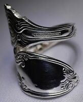 Antique 1890 TIFFANY & Co BROOM CORN SIZE 7 STERLING  Spoon Ring  Free Ship