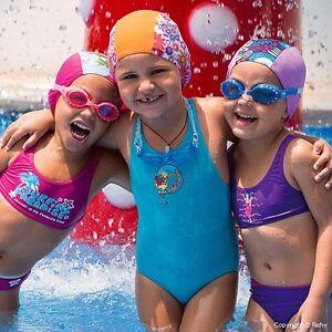Girls Fashy Fabric Swim Hat cap 5 Bright New children's swimming cap