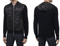 Moncler Daunen Jacke Down Cardigan Tricot Camouflage Knitwear Strickjacke New XL