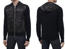 Moncler Daunen Jacke Down Cardigan Tricot Camouflage Knitwear Strickjacke New M