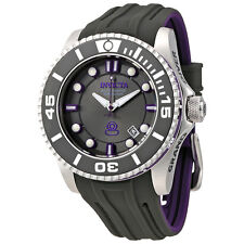 Invicta Pro Diver Automatic Black Dial Black and Purple Silicone Mens Watch