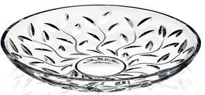 Rcr Crystal Laurus Set Of 6 Lead Free Floral Botanical Crystal Dessert Plates