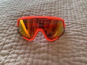 100% Sunglasses - Glendale Neon Orange Hiper red lens - new