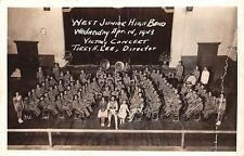 Waco Texas~West Jr High Band~WWII Victory Concert~Tirey A Lee Director~1943 RPPC