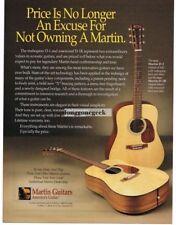 1996 MARTIN D-1, D-1R Acoustic Guitar Vtg Print Ad