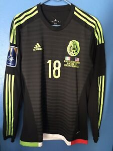 Adidas Mexico National Team Player Issue Long Sleeve Adizero Jersey Guardado 18