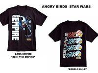 Star Wars Angry Birds Rebels Rule Dark Empire Boys Black Tee Shirts Boys  M L XL