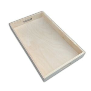Wooden Serving Large Tray, Set from 1 to 10,50 cm x 30 cm x 5.4 cm, - Unpainted