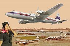 Roden 1/144 Japan Airlines Douglas DC-7C Passenger Plane Transcontinental 303