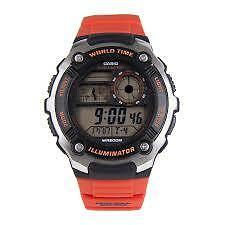 CASIO AE-2100W-4A ORANGE WATCH FOR MEN - COD + FREE SHIPPING