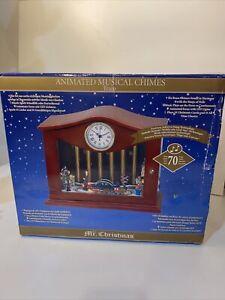 NRFB Mr Christmas Animated Musical Chimes Ballroom Dancers Holiday 70 Songs