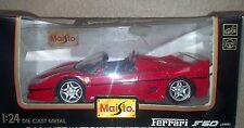 1995 MAISTO 1:24 FERRARI F50 NIB RED ** WOW ** NEW Vintage Sports Car RARE