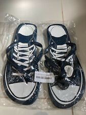 Mens FLIP FLOPS SNEAKERS BLUE  AND WHITE COLOUR . UK SIZE 11-12