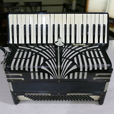 Vintage Castelli Accordion Black 41/120 Harness & Case ~ Made In Italy # A.01488