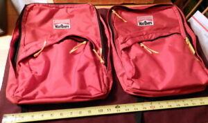 Marlboro Adventure Team Red Mini Backpack 2 Zipper Compartment 2 Bag LOT Vintage