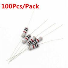 100Pcs 1W 1 Watt Carbon Film Resistor ±5%  1R - 910 Ω Ohm 1K 10K to 4.7M Ohm