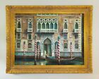 """Original Signed Oil on Canvas Venice Canal Gondola Painting 58"""" x 46"""""""