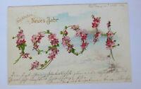"""""""Neujahr, Jahreszahl, Blumen"""" 1904 ♥ (29387)"""