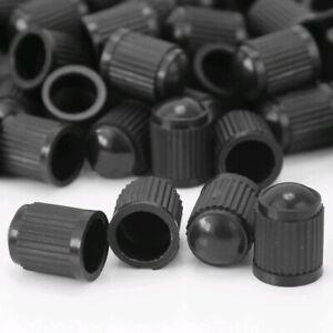 50 x Black Plastic Truck Car Auto Wheels Tire Valve Stem Cap Lid Air Dust Covers