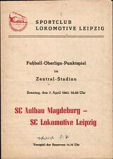 OL 62/63 SC Lok Leipzig - SC Aufbau Magdeburg, 07.04.1963