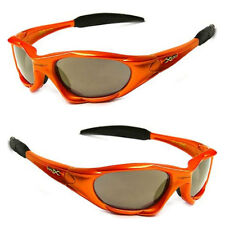 ec6454f13ee3 XLoop Mens Womens Sports Sunglasses w Free Pouch -Orange Frame Tinted Brown  Lens