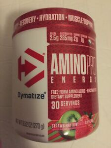 Dymatize Amino Pro With Energy BCAA  Strawberry Kiwi 30 Serv Ex 01/2022