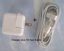 10 Watt 2.4 AMP Wall Charger COMBO for iPad 2-5 USB & 10 foot  30 pin cable