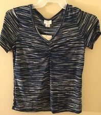 JACLYN SMITH WOMENS TOP SHIRT SIZE SMALL NEW WITH TAG OFFICE OUTFIT Blue Tones