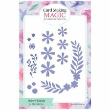 Card Making Magic Die Set Daisy Flourish Flowers Lacey Collection Set of 14