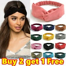 Stretchy Twist Knot Sports Suede Nonslip Headband Plain Elastic Head Hair Band