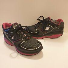 Skechers Shape-Ups S2 Lite Scarpe da Ginnastica Rosa Nero Tg UK 5.5 ottime condizioni