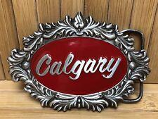 Vintage 1977 Calgary Alberta Canada Rodeo Belt Buckle By Capt Hawks Sky Patrol