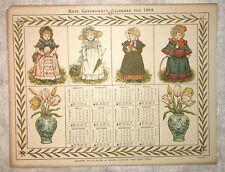 Kate Greenaway. Calendars for 1884  George Routledge & Sons   London & New York