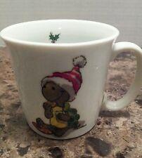 Suzy's Zoo VTG 1976 Christmas Turtle Cookies & Milk Coffee Mug Tea Cup Enesco