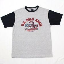 27.4ms Us Polo Assn Camiseta Hombre Grande TALLA L Gris Retroceso Hechizo
