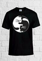 Ying Yang Cat Kittens Cute Funny Gift Men Women Top Unisex T Shirt 2289