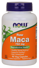 NOW Foods MACA 750mg 90 Caps for Sexual Health & Fertility