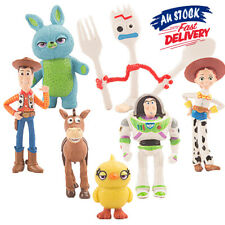 7 PCS Toy Story Cake Topper Woody Action Figure Kids Toys Buzz Lightyear Bulleye