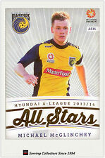 2013-14 A League Trading Cards All Stars AS16 Michael McGlinchey (Mariners)