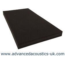 """Advanced Acoustics 3"""" Thick Class '0' Acoustic Studio Treatment Foam Panel Black"""