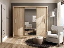 Brand New Modern Bedroom Wardrobe Sliding Door with Mirror IDEA in Sonoma 250cm