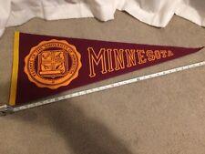 Vintage University of Minnesota Pennant-Golden Gophers