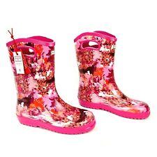 Hunter Kids' Abstract Print Tall Rain Boots girls - Pink size 5