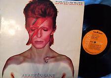 DAVID BOWIE - LP - ALADDIN SANE  - 1973 RCA - 1st SPAIN COMPLETE + POSTER