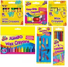 Kids Jumbo Wax Crayons Safe,Non Toxic Toddler First Crayons Easy Grip,Stackable