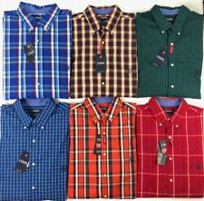 Men's Chaps Big & Tall Easy Care Stretch Long Sleeve Button Front Shirt