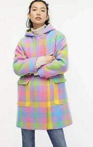 J NWT Crew Toggle Wool Cashmere Cape Coat Heather Gray XXS//XS S//M Navy