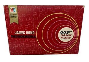 1965 Vintage James Bond 007 Thunderball Puzzle 1000+ Pieces Milton Bradley