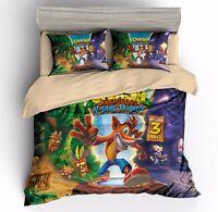 Crash Bandicoot N.Sane Trilogy 3D Bedding Duvet Cover Sets Pillow Sham Bed Cover