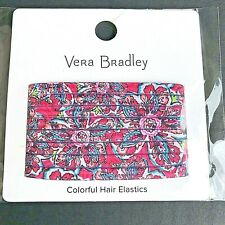 Vera Bradley Colorful Hair Elastics In Sunburst Floral - NEW In Packaging -c
